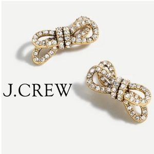 J. Crew sparkle double knot earrings AS478 NEW